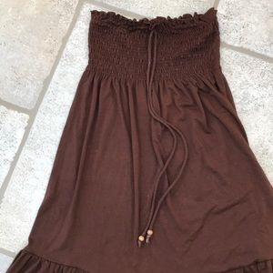 Nordstrom Dresses - Strapless Brown Dress